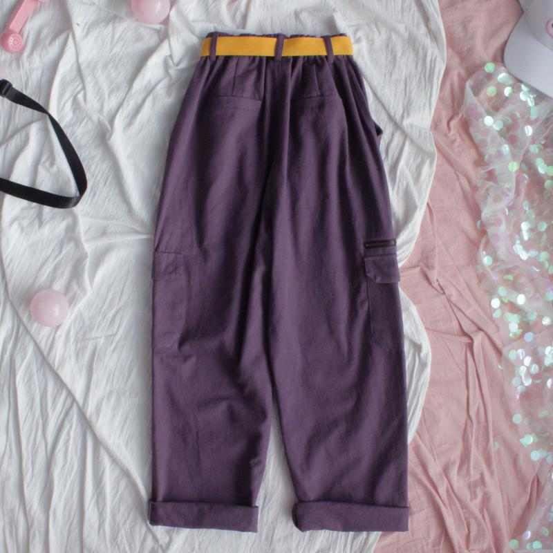 HARAJUKU BF STYLE PURPLE OVERALLS PANTS BY63041