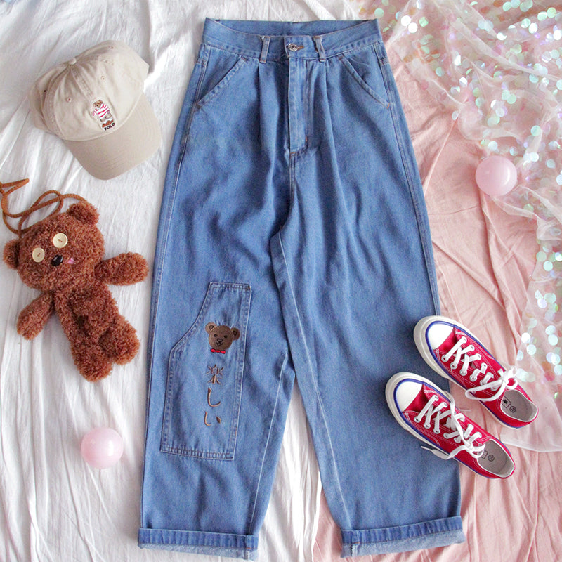 HARAJUKU CUTE BEAR JEANS BY63124