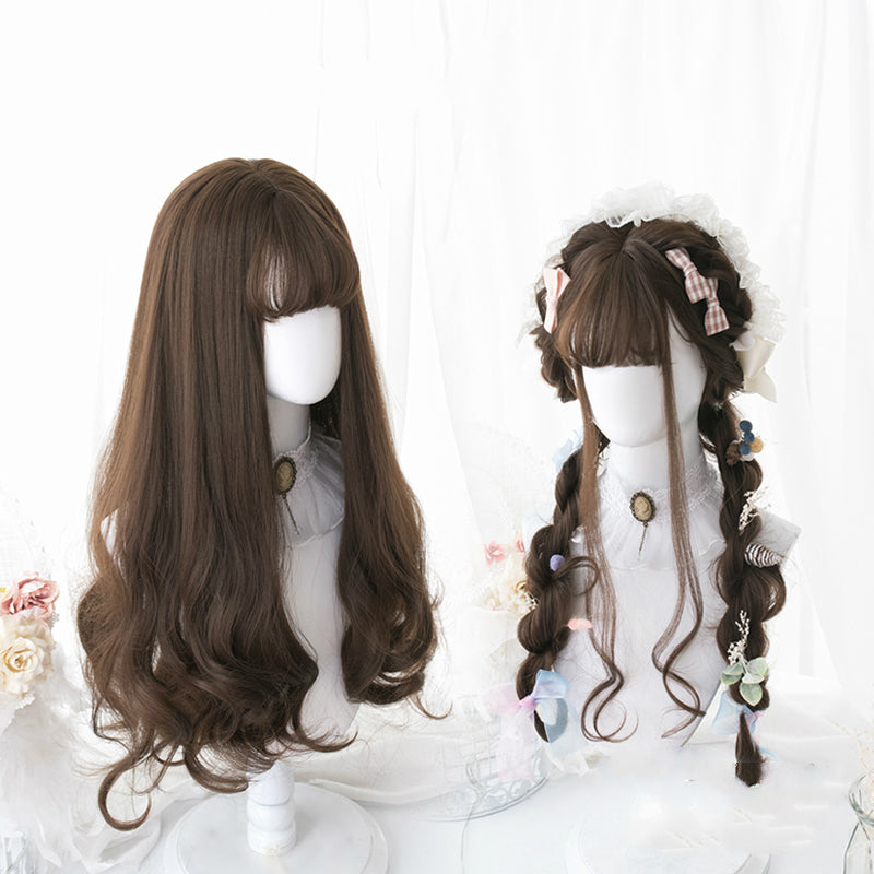 HARAJUKU LOLITA CHOCOLATE LONG CURLY WIG BY31020