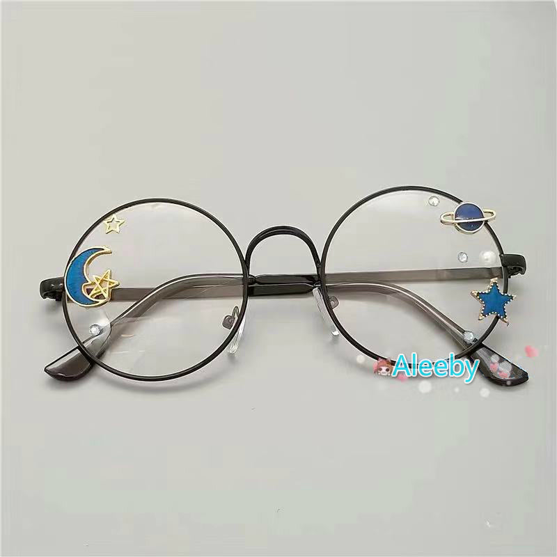 HARAJUKU LOLITA COS ROUND FRAME GLASSES BY12005