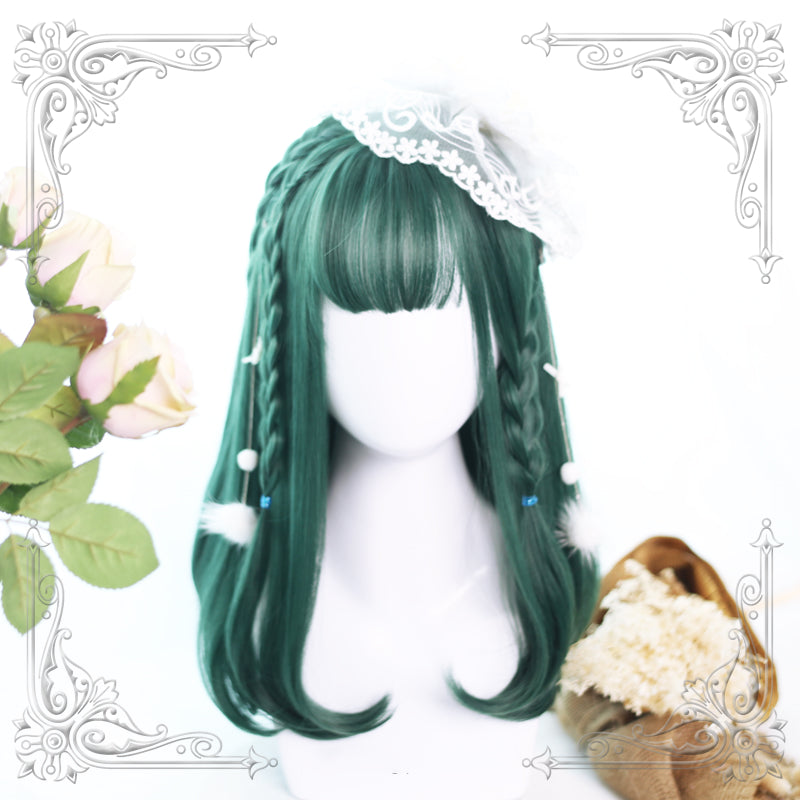HARAJUKU LOLITA DARK GREEN WIG BY31012