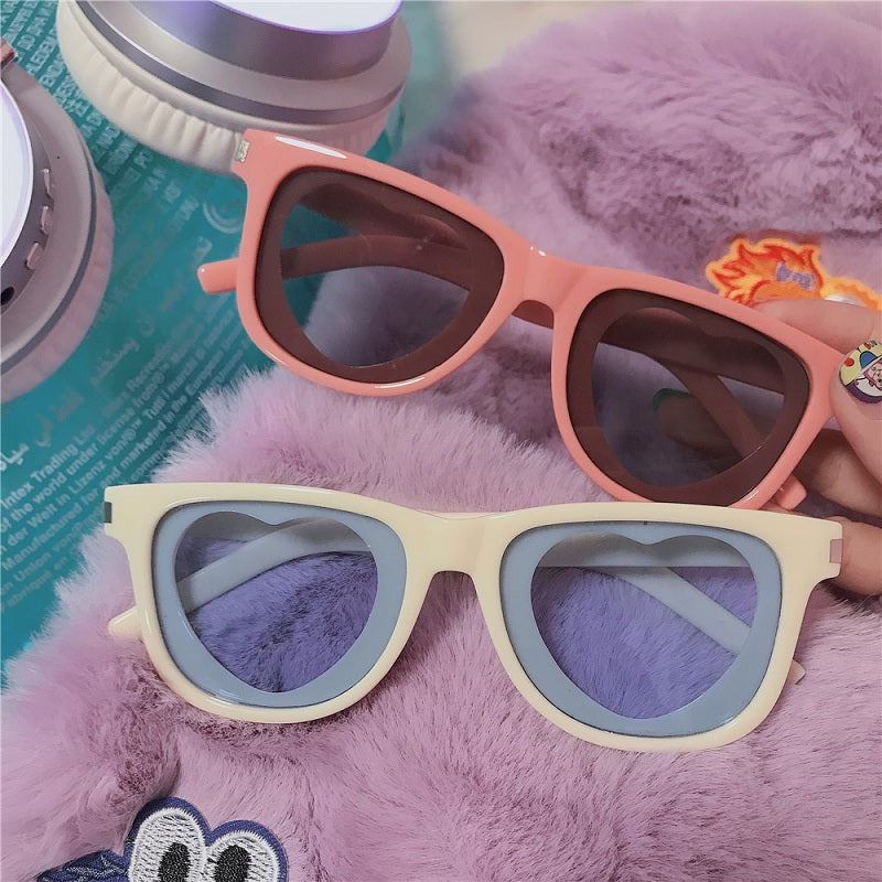 HARAJUKU SWEET PINK LOVE SUNGLASSES BY12004