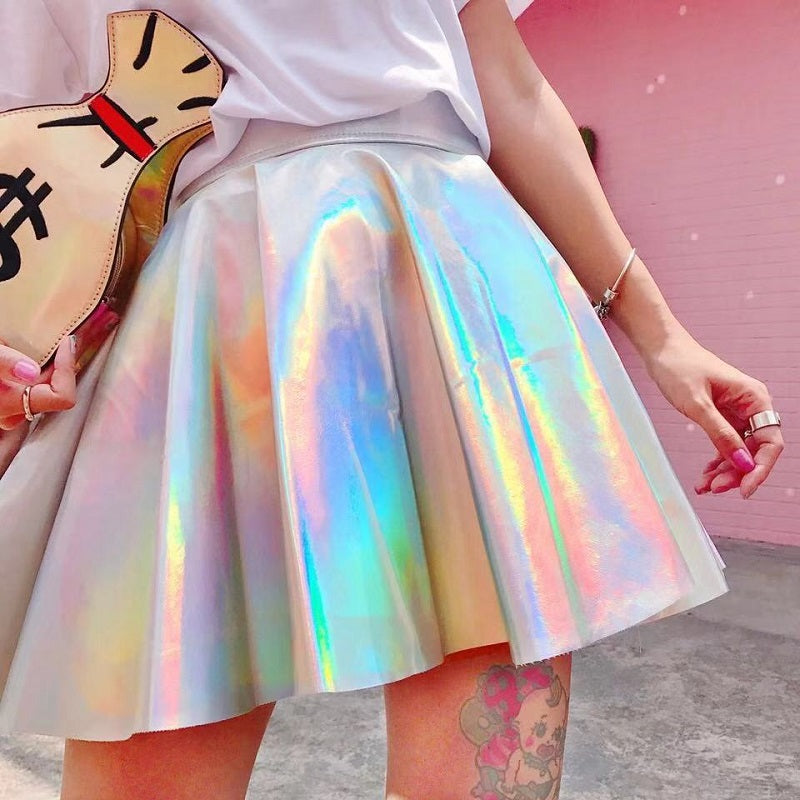 HARAJUKU LASER HIGH WAIST SKIRT BY61026