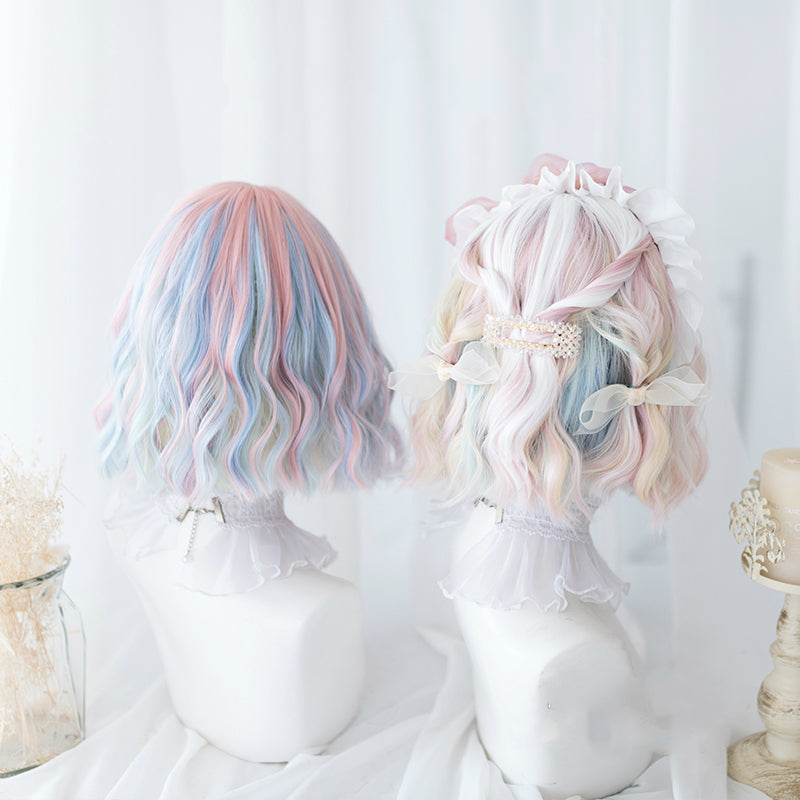 ICE CREAM MACARON SHORT CURLY WIG BY31126