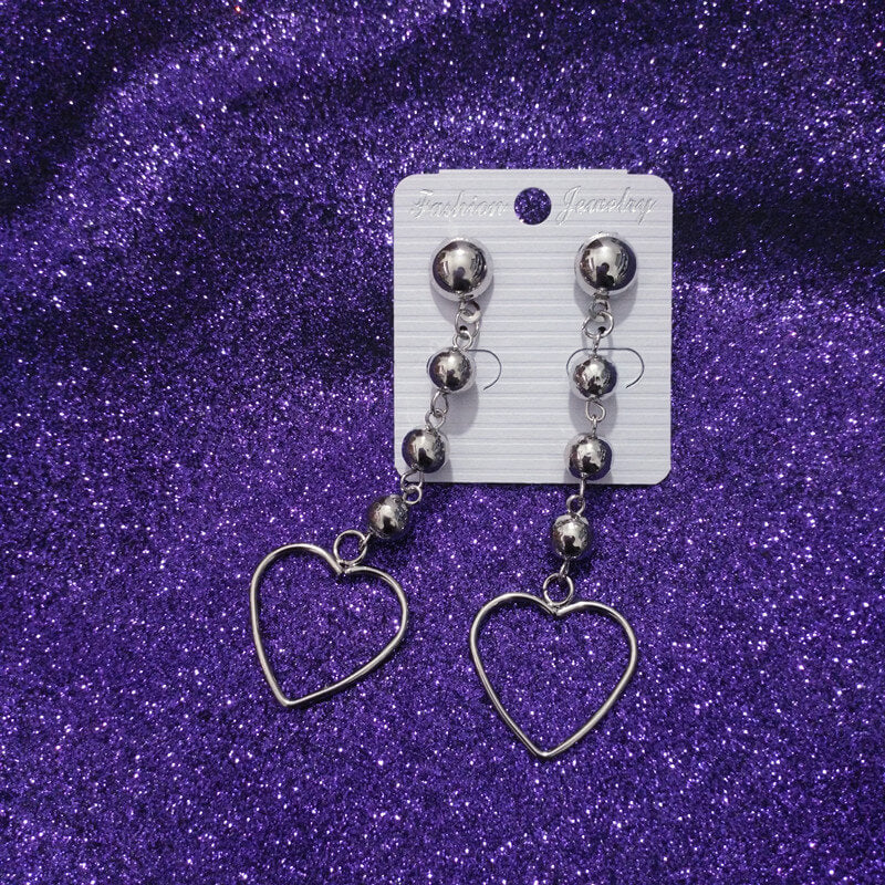 INS FASHION HOLLOW HEART EARRINGS BY60409