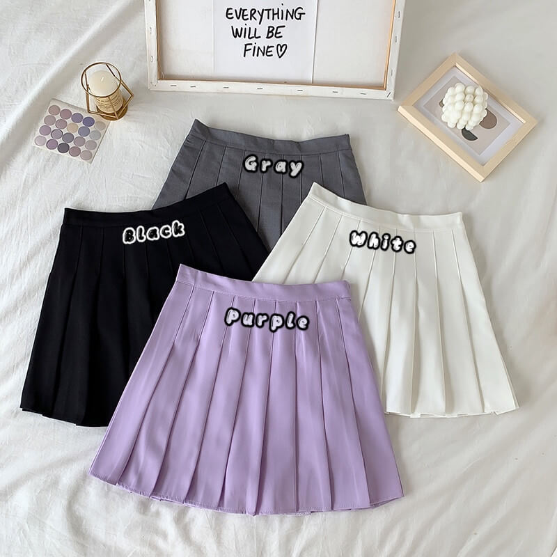 INS HOT PASTEL PLEATED SKIRT BY60304