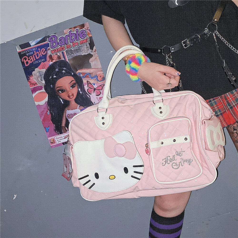 """HELLO KITTY""  PU HIGH-CAPACITY HANDBAG BY07289"