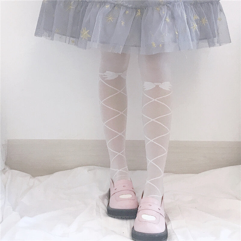JAPANESE LOLITA CUTE BOW JK BODY-STOCKING BY07234