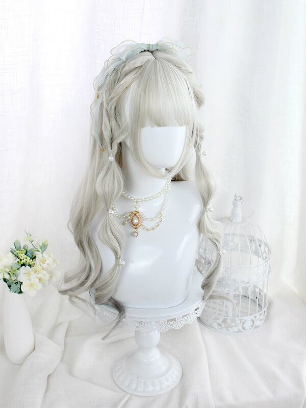 JAPANESE LOLITA GRADIENT GRAY COS LONG CURLY WIG BY61108