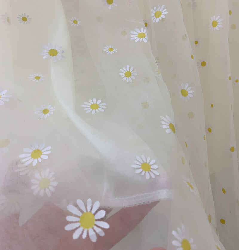 JAPANESE SWEET DAISY HIGH WAIST MESH SKIRT BY77766