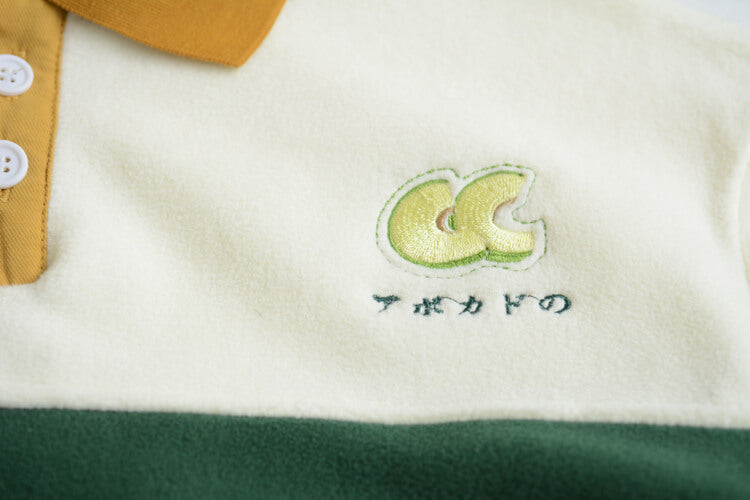 JAPANESE AVOCADO EMBROIDERY VELVET SWEATER BY21166