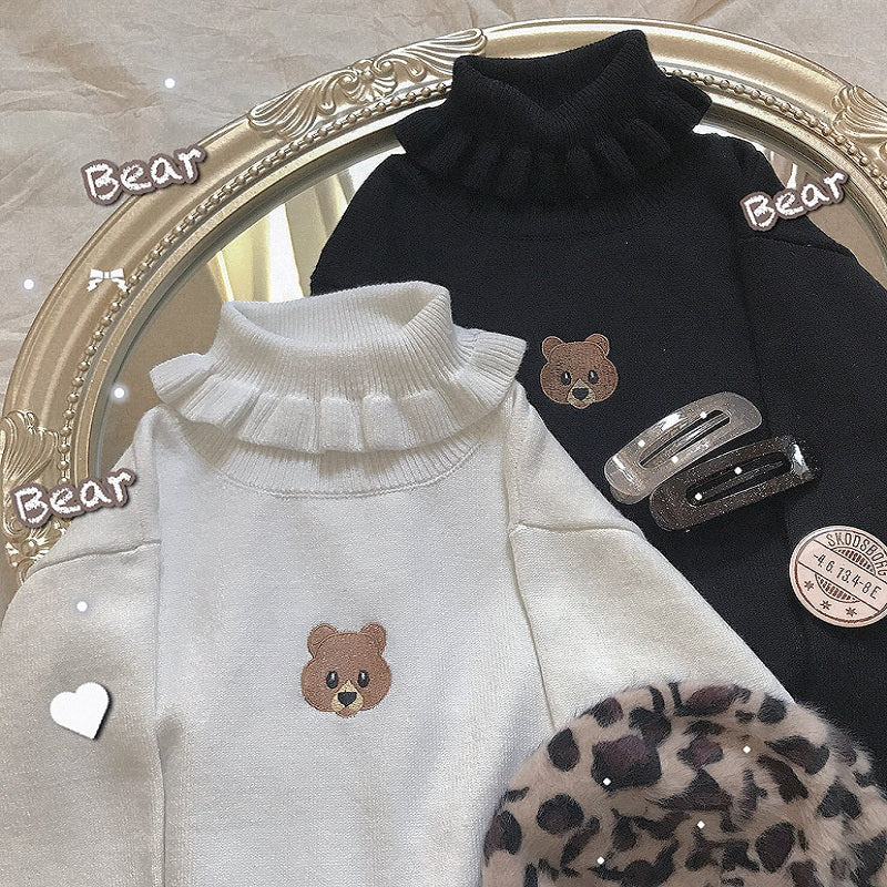 JAPANESE CUTE BEAR KNIT SWEATER BY21038