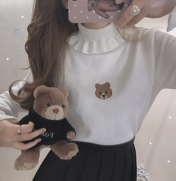 3 COLORS JAPANESE CUTE BEAR KNIT SWEATER BY21038