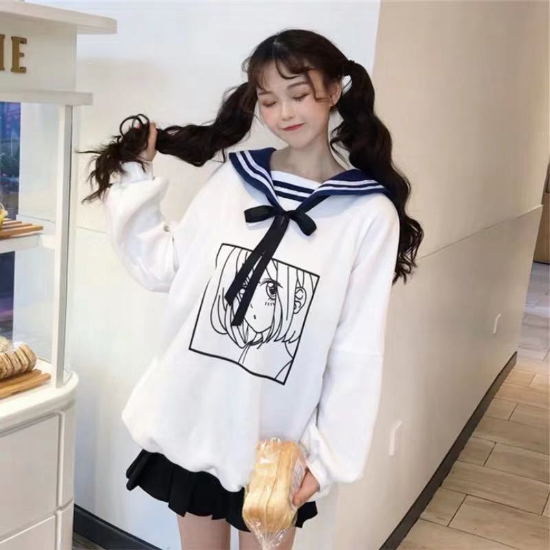 JAPANESE CUTE BOW HOODIE BY23045