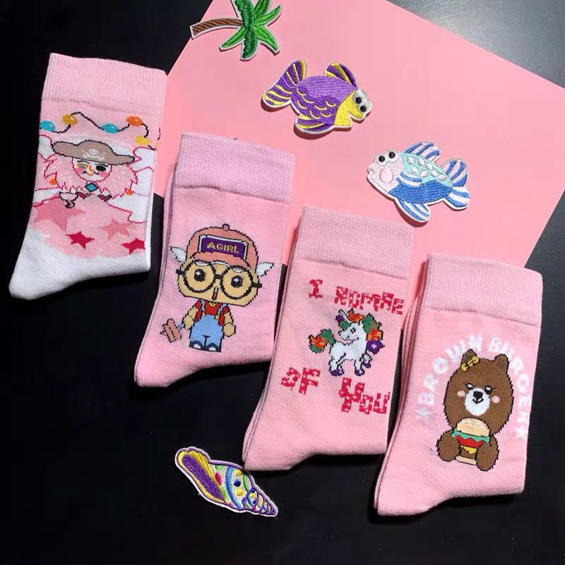 JAPANESE CUTE MIDDLE TUBE SOCKS BY64009