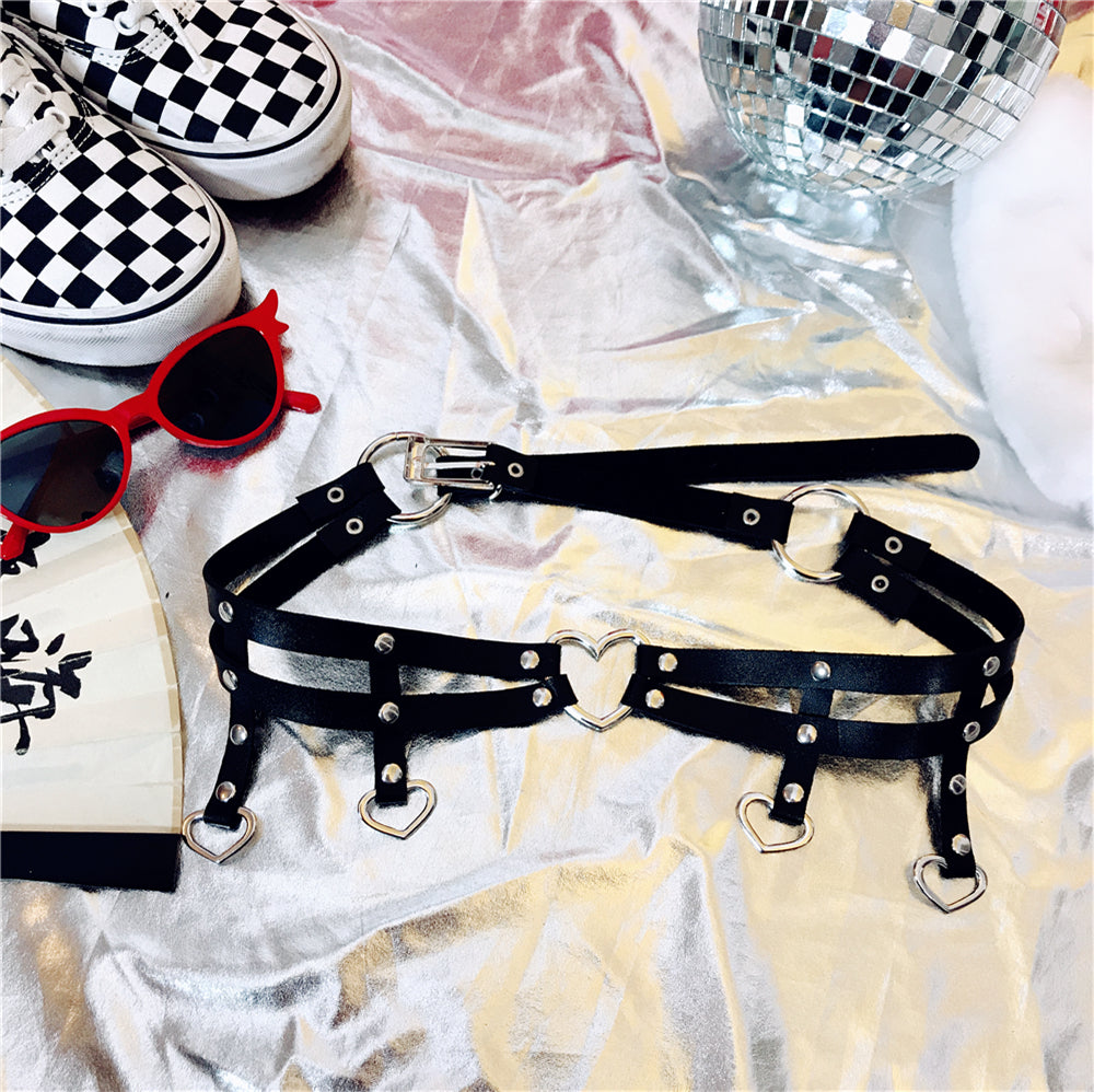 JAPANESE HARAJUKU ULZZANG LOVE HIPHOP RIVETS BELT BY18002