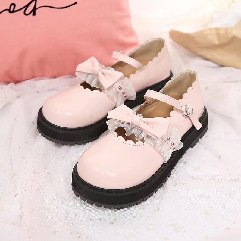 JAPANESE LOLITA CUTE BOW THICK-SOLED SHOES