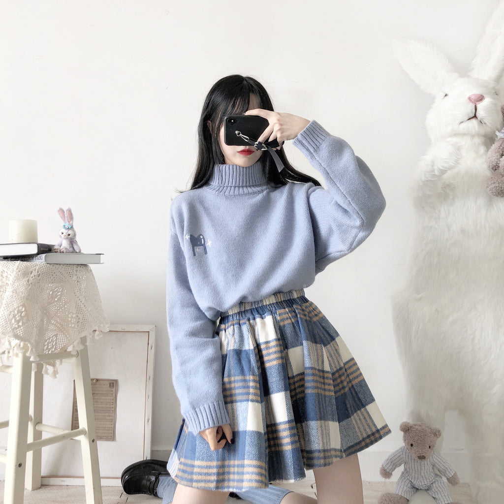 JAPANESE WOOL PLAID SKIRT BY63132