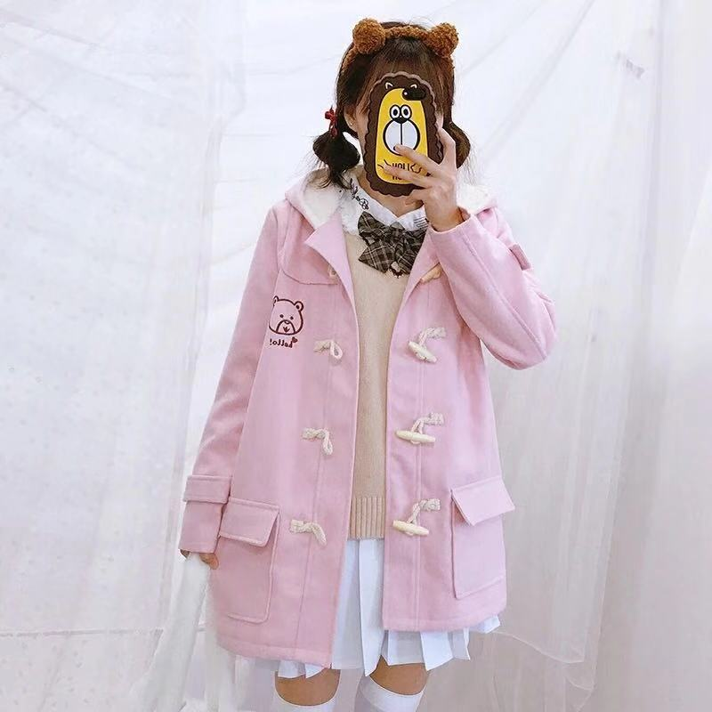 JAPANESE LOVELY HORN BUTTON COAT BY24991