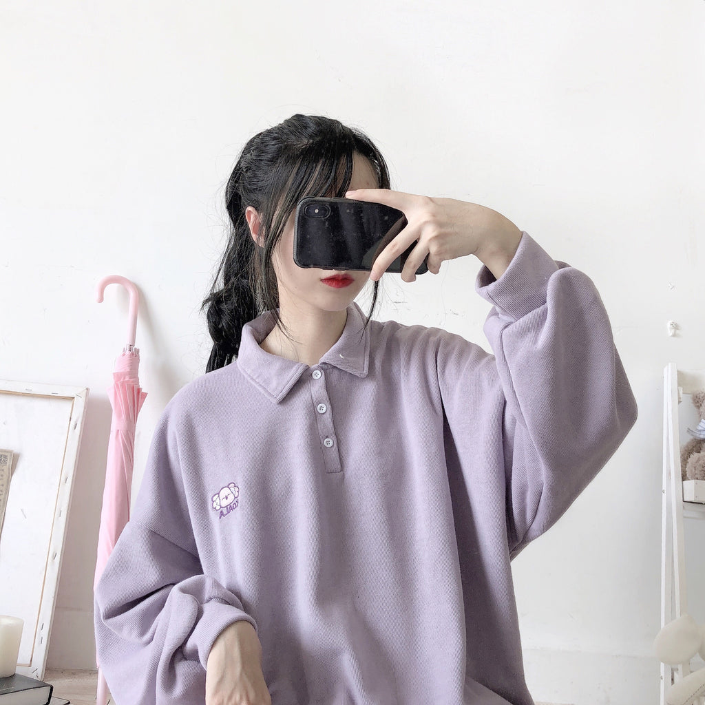 ''KAOLA KOALA EMBROIDERY'' PURPLE SWEATER BY21103