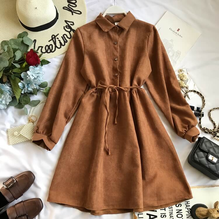 6 COLORS LONG SLEEVES DRESS BY71174