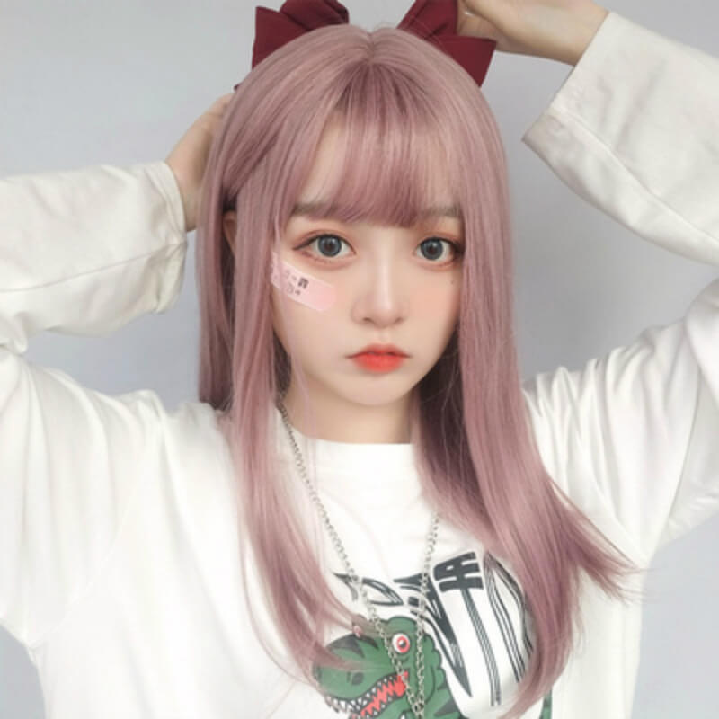 LOLITA MILKY LAVENDER COS MEDIUM LONG STRAIGHT WIG BY61105