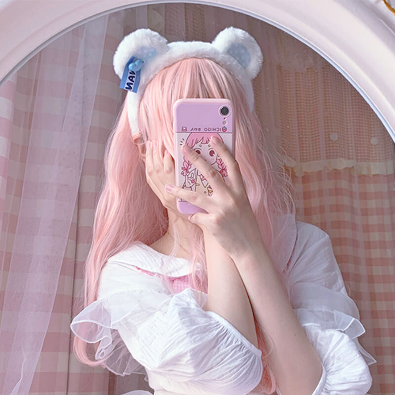 LOLITA SWEET CUTE PLUSH BEAR EAR HEADBAND BY62902