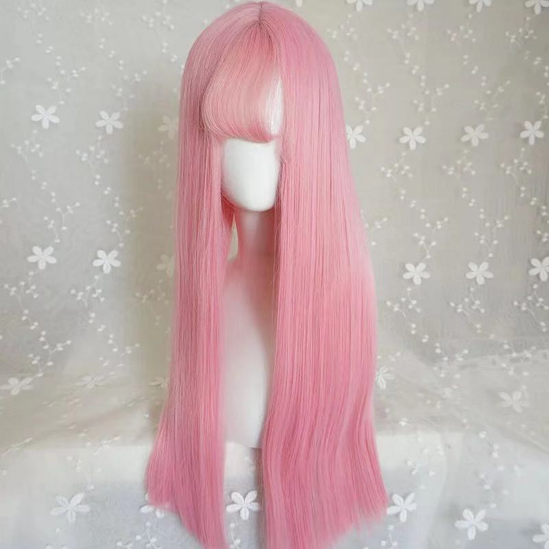 LOLITA AIR BANGS PINK LONG STRAIGHT WIG BY31067
