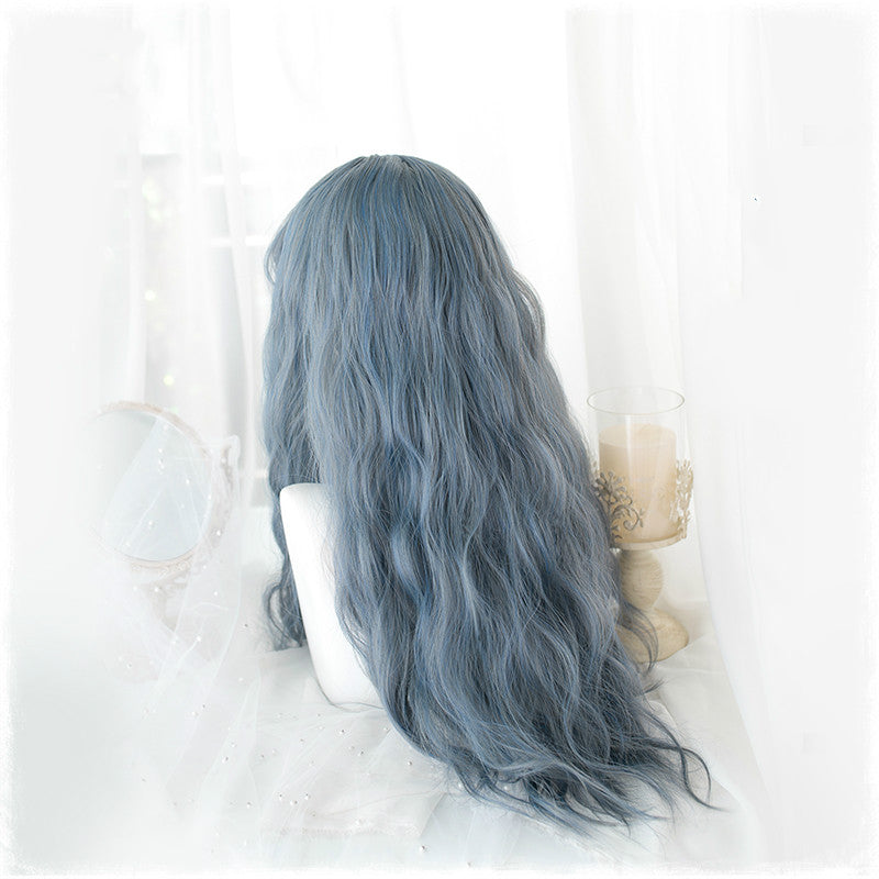 LOLITA GREY BLUE WATERWAVE WIG