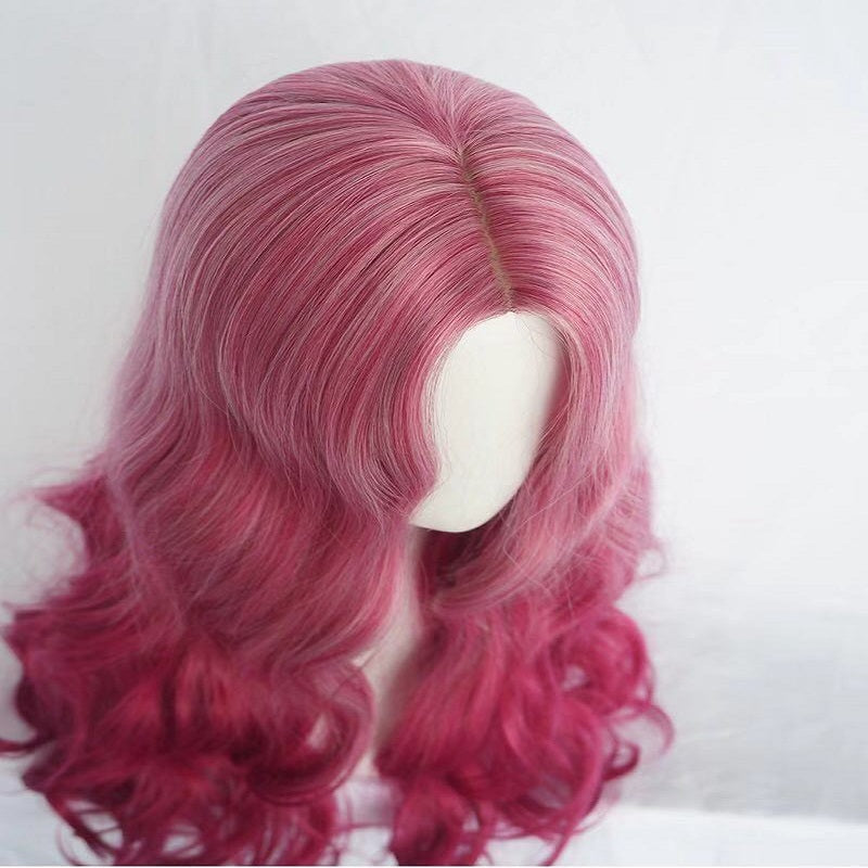 LONG CURLY PEACH BIG WAVE WIG