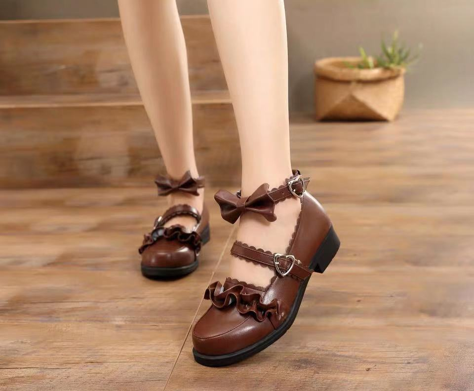 MERURU LOLITA LACE BOW UNIFORM SHOES BY81012