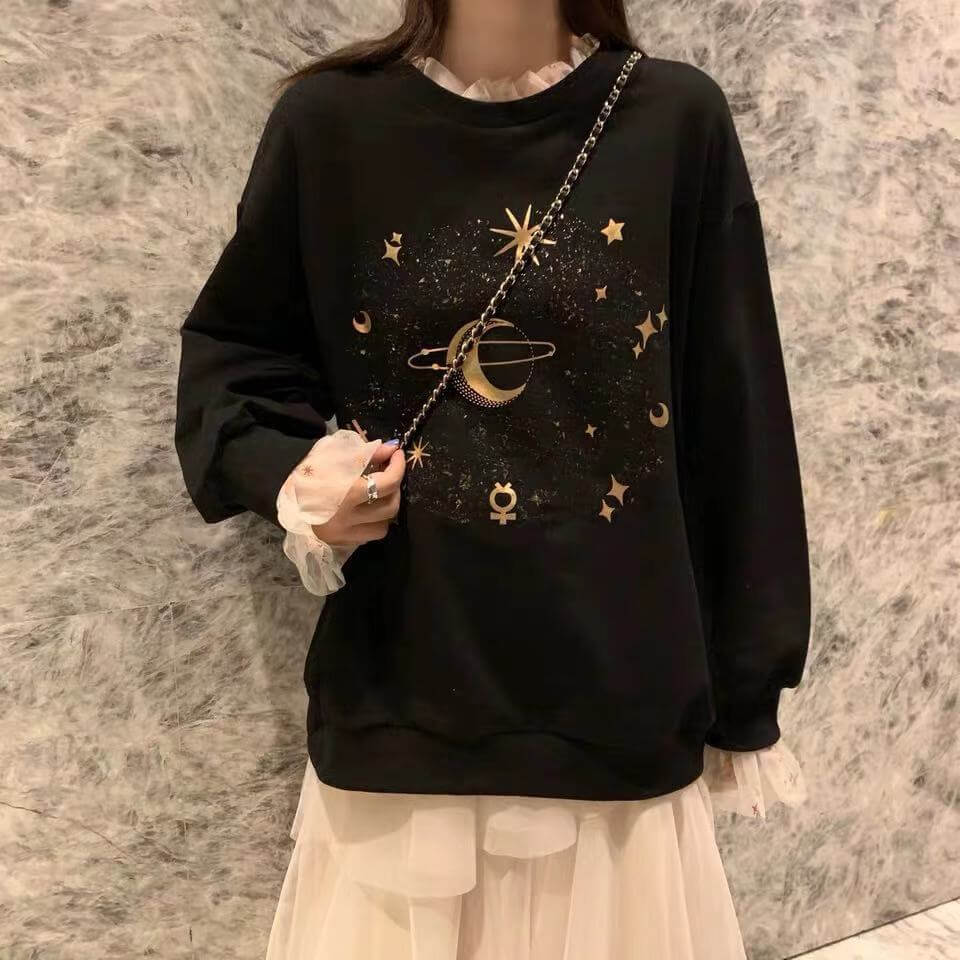 ''MOON & STARS'' SWEATER+SKIRT BY21161