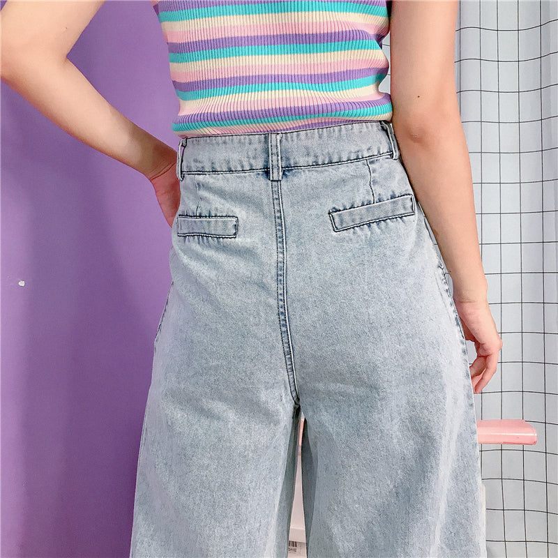 KOREAN SUMMER CEC LOOSE THIN JEANS BY63054