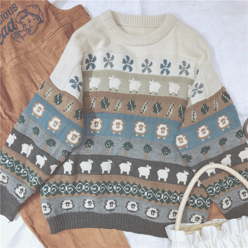 JAPANESE RETRO SWEATER BY21049