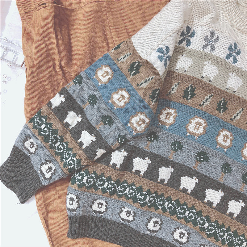 RETRO CUTE SWEATER BY21049