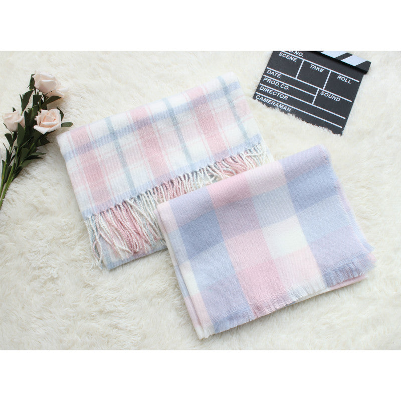 MACAROON PASTEL CASHMERE-LIKE SCARF BY13018