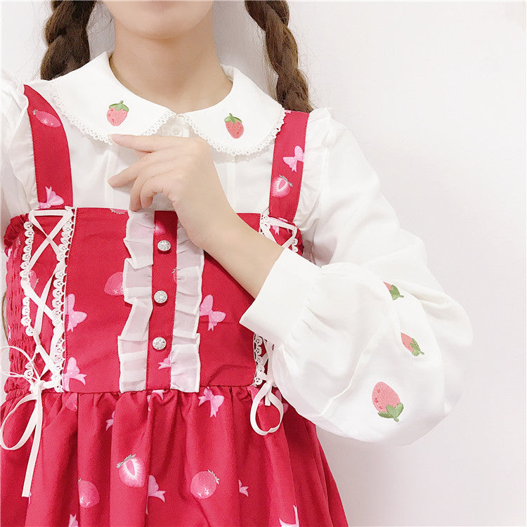 CUTE STRAWBERRY BLOUSE BY22524