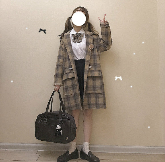 JAPANESE PLAID JACKET COAT BY24055