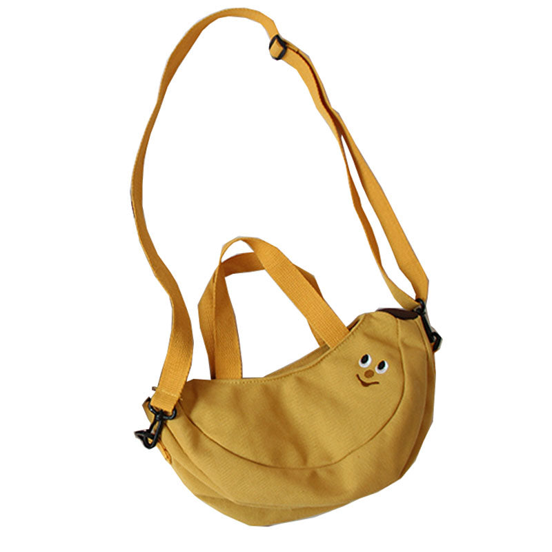 KOREAN CUTE BANANA CANVAS SHOULDER BAG BY94011