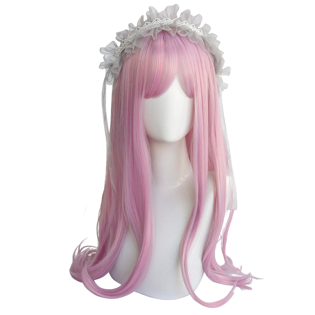 LOLITA PINK PURPLE AIR BANGS WIG BY31023