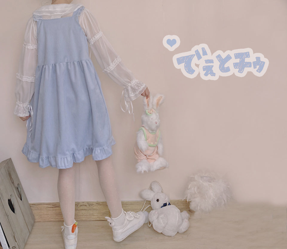 CUTE RABBIT CORDUROY DRESS BY71132