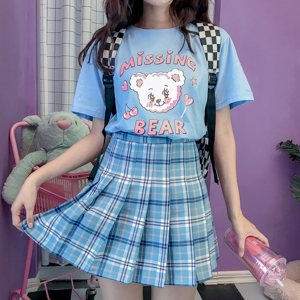 KOREAN CHECKERS SKIRT BY61114
