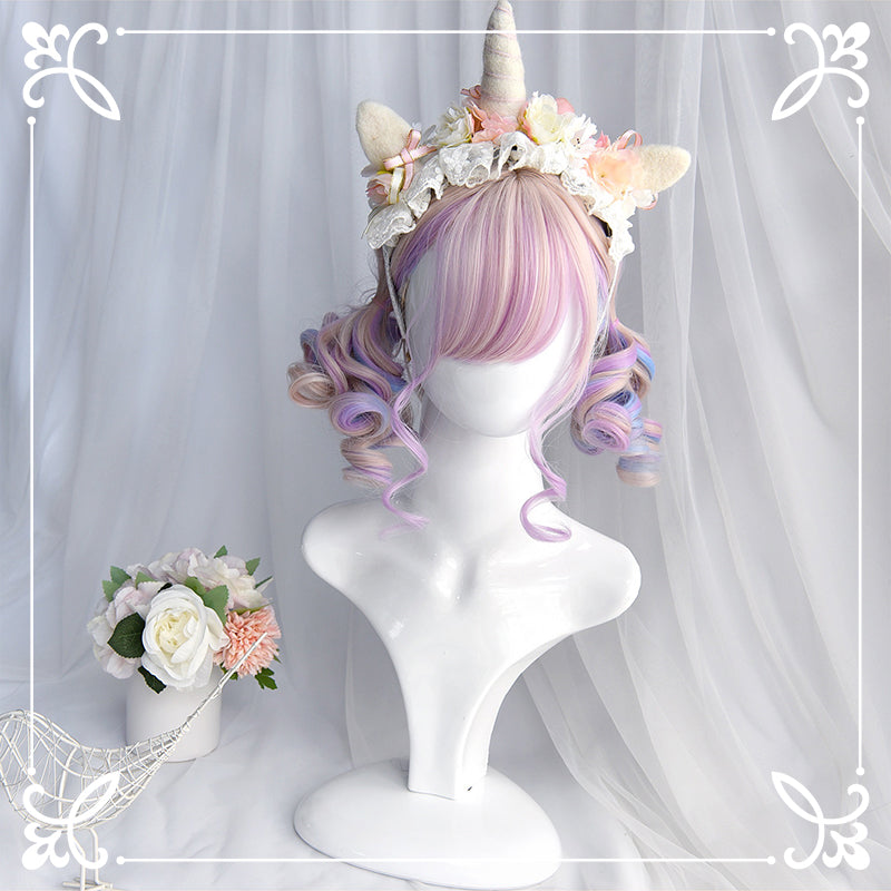 LOLITA PASTEL PINK ROMAN ROLL WIG BY31157