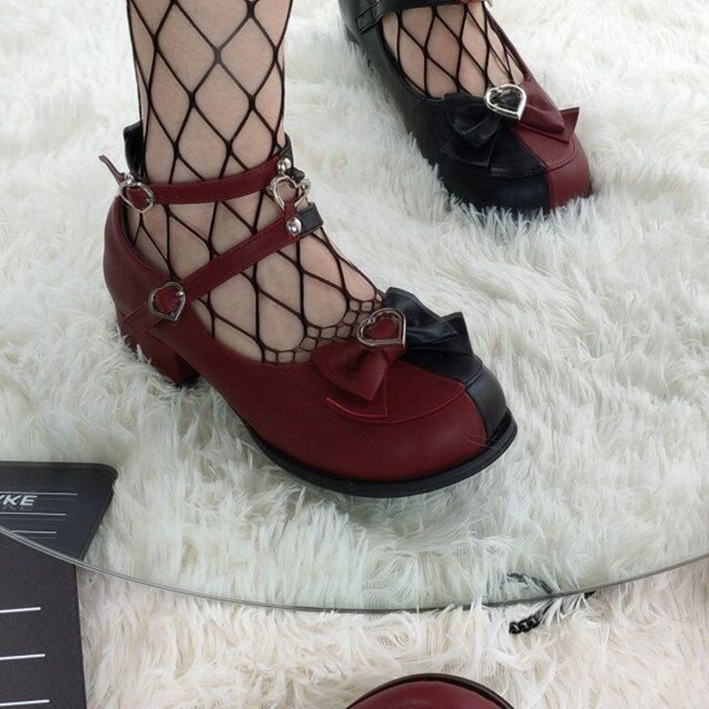 LOLITA LOW HEELED LEATHER SHOES BY210801