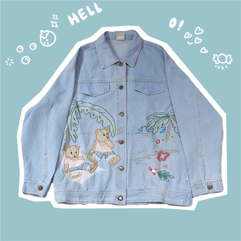 JAPANESE CARTOON PATCH EMBROIDERED TOP BY280804