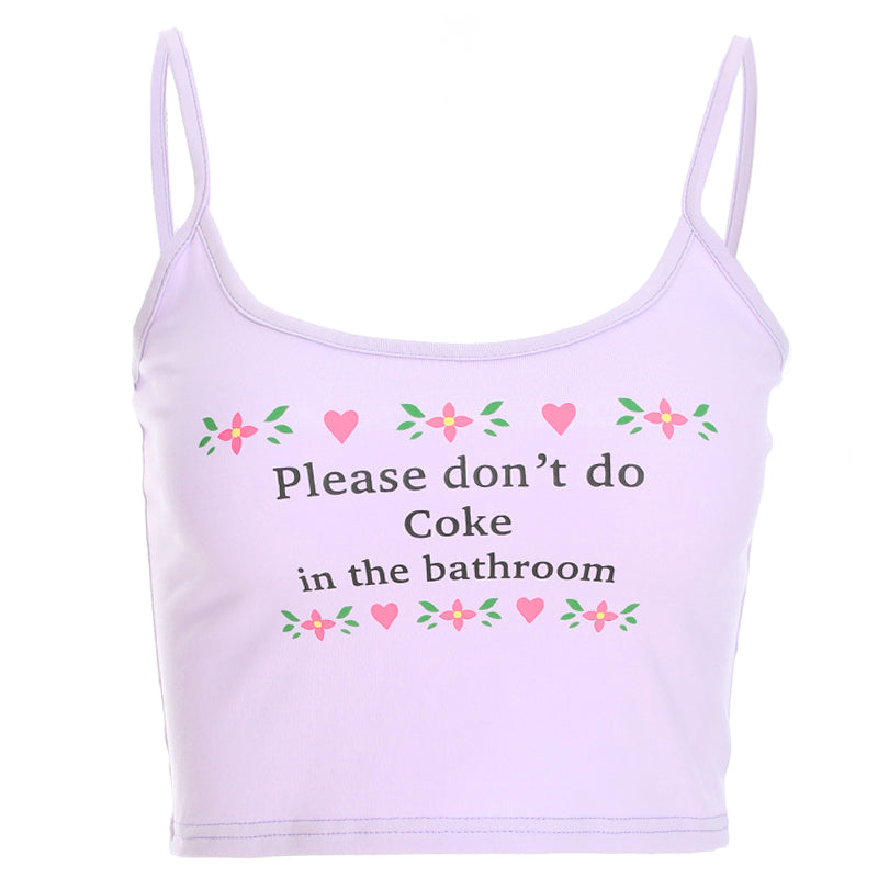''PLEASE DON'T DO COKE IN THE BATHROOM'' VEST BY22357