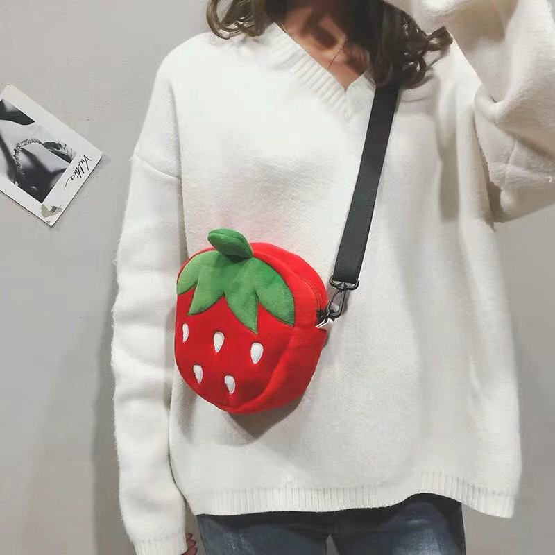 PLUSH CUTE STRAWBERRY BAG BY42301