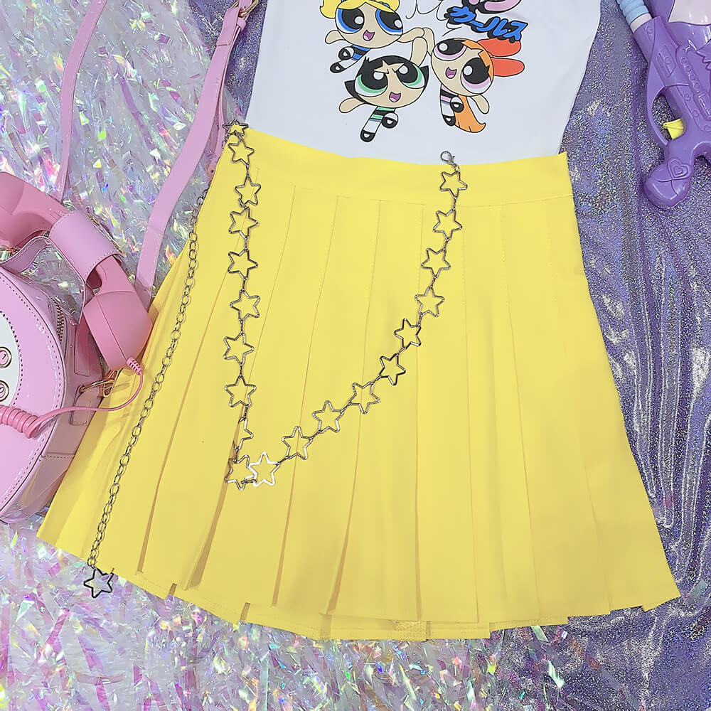 PREPPY STYLE PASTEL PURPLE JK SKIRT BY07239