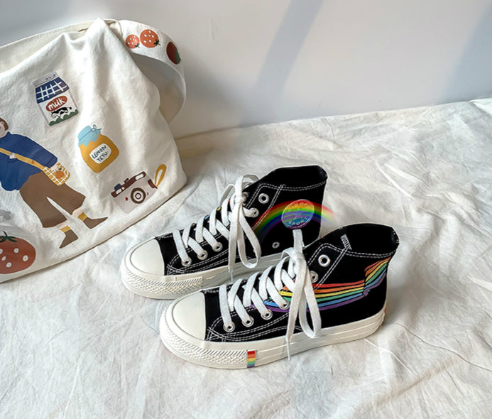 RAINBOW CANVAS SHOES BY81016