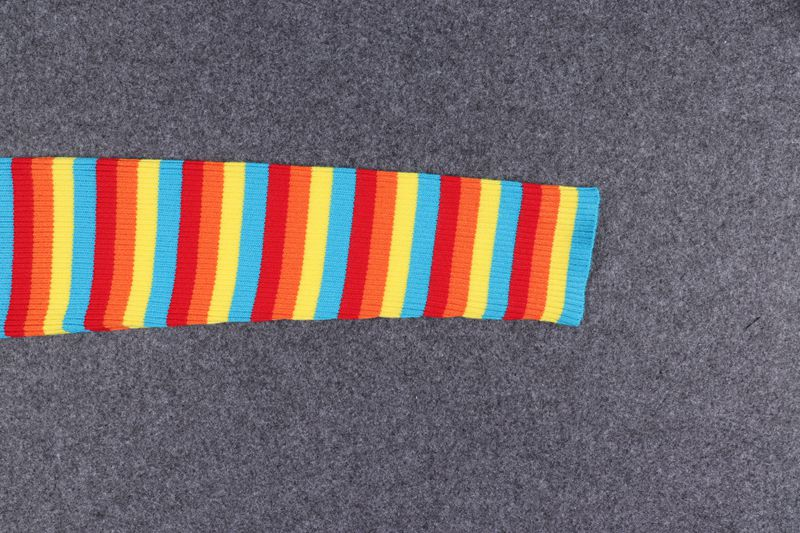 RAINBOW STRIPE HIGH WAIST KNIT SWEATER BY21043